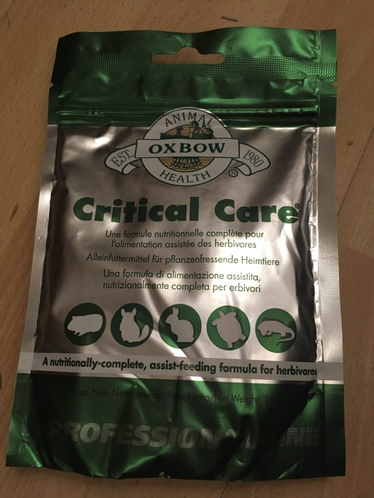 Oxbox critical care, a nutritionally-complete, assist-feeding formula for herbivores